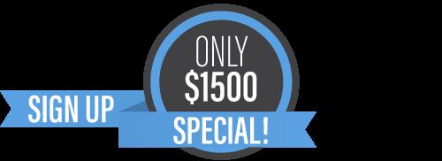 Ony $1500 Special